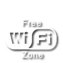 Er is een free wifi zone op de camping