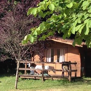 chalet huren in Dordaogne op kleine camping